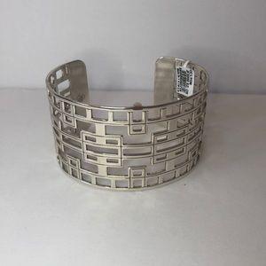 NWT Brighton Christo Lyon Silver Cuff Bracelet